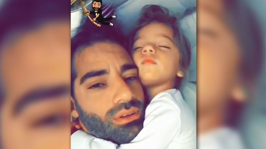 Toni Costa compartió cómo despierta la pequeña Alaïa