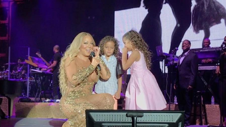 Los hijos de Mariah Carey se animaron a cantar con ella