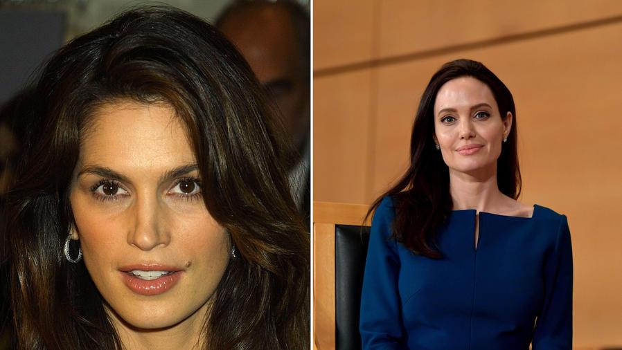 Cindy Crawford y Angelina Jolie