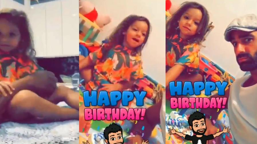Así celebró Alaïa a su papi en su cumpleaños