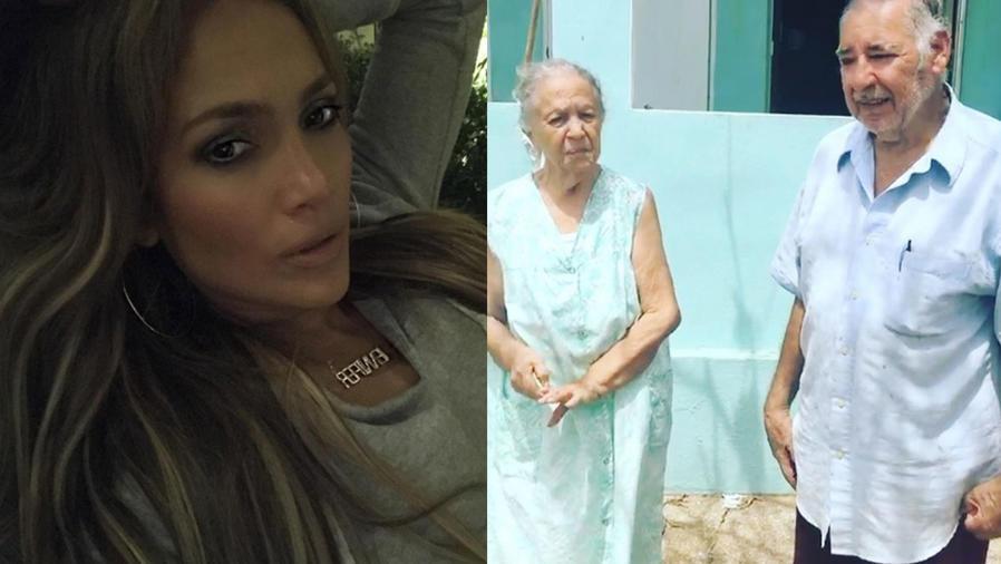 Jennifer Lopez y sus tíos en Puerto Rico