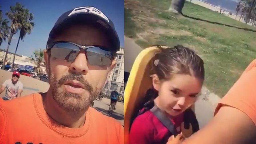 Eugenio Derbez y su hija dieron un paseo en bici