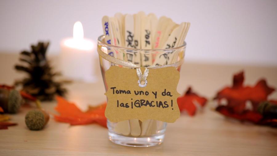 Made in casa: frasco de agradecimiento para Thanksgiving