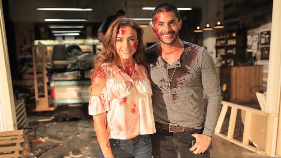 Ana Belena y Daniel Elbitar en Sangre De Mi Tierra