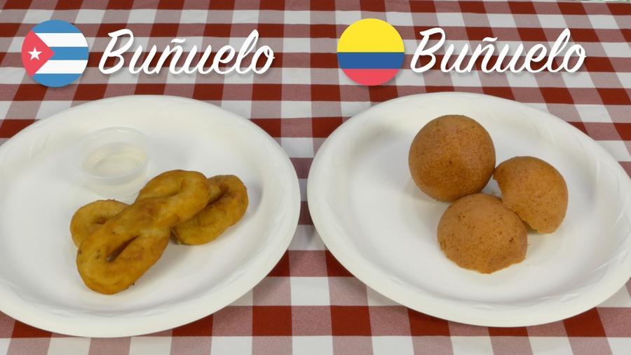 Colombian Buñuelos VS Cuban Buñuelos