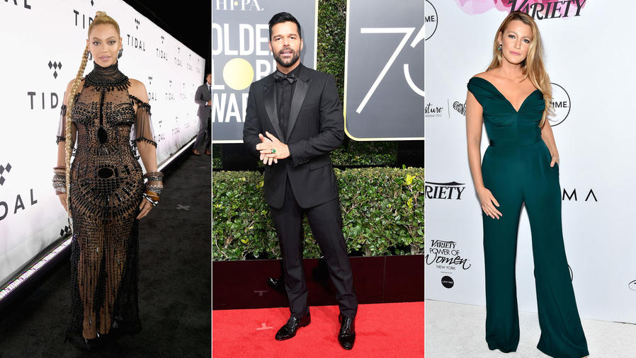 Beyoncé, Ricky Martin, Blake Lively Collage