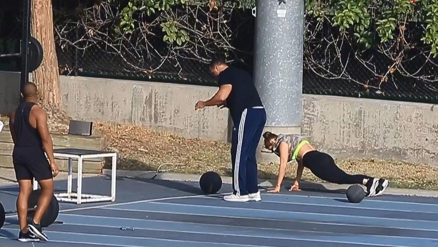 Mira el sexy workout de Jennifer Lopez y Alex Rodriguez (VIDEO)