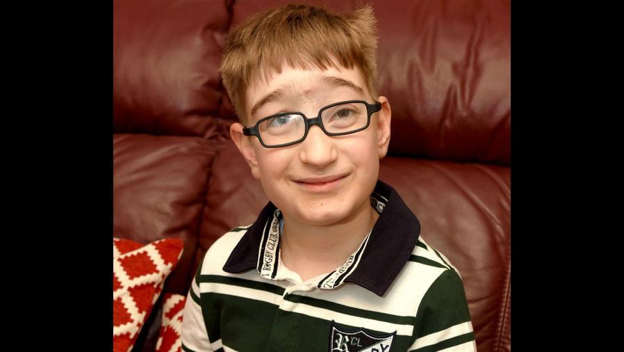Jamie Daniel en su décimo cumpleaños