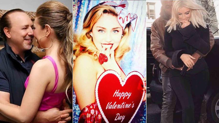 Thalía, Tommy Mottola, Miley Cyrus, Kim Kardashian, Kanye West