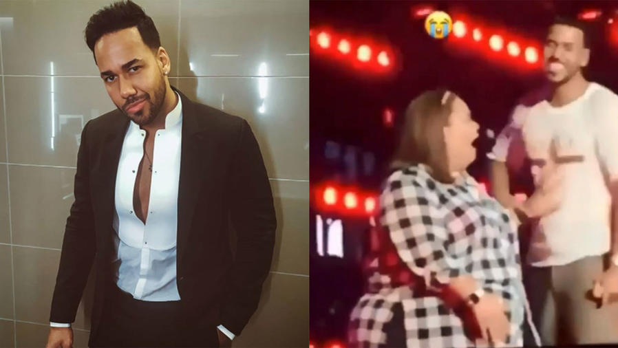 Romeo Santos Lets Fan Touch His Private Parts