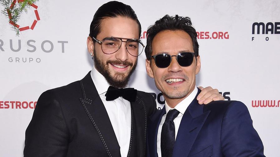 Maluma y Marc Anthony en una gala