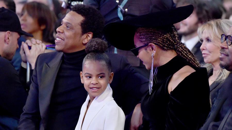Beyoncé y su familia en los Grammys 2018
