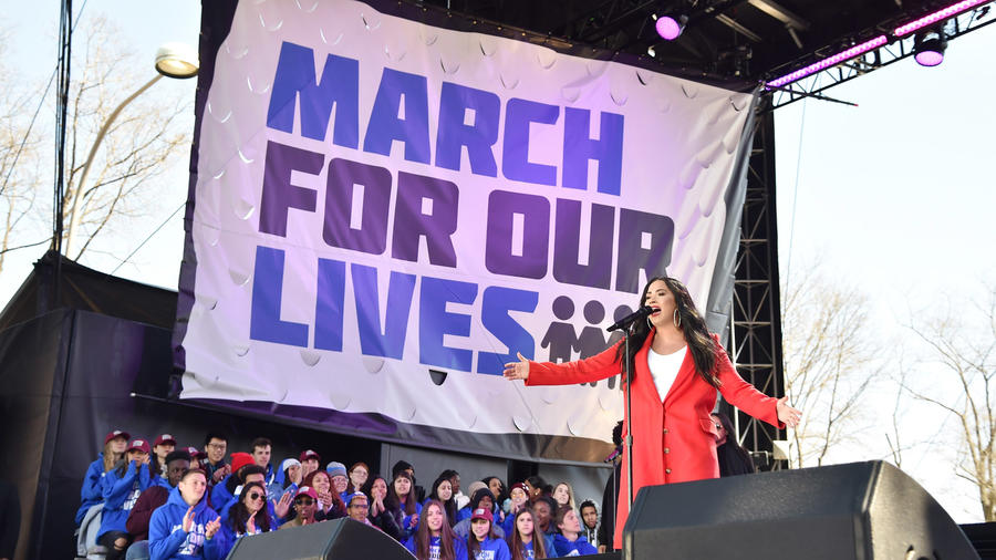 "Demi Lovato en ""The March For Our Lives"""