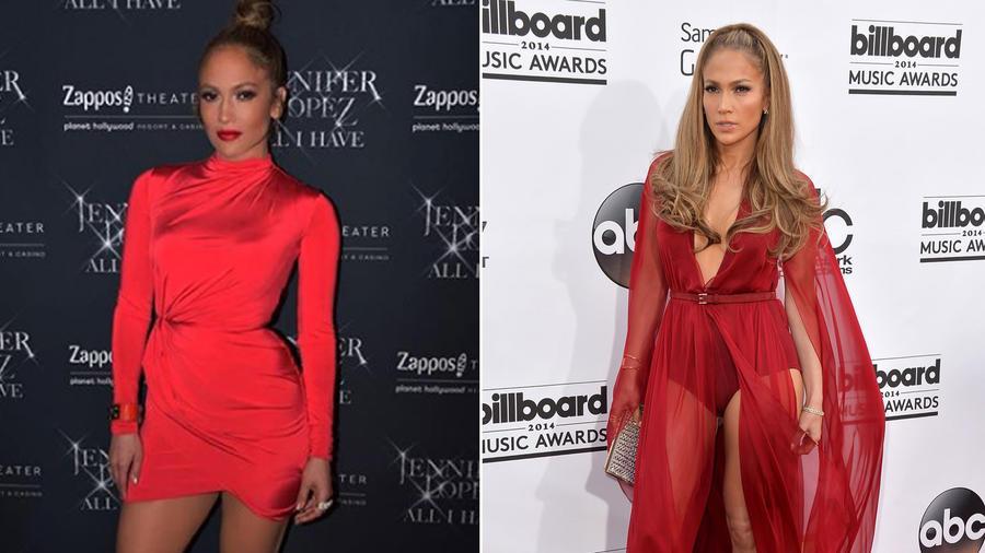 Looks en rojo de Jennifer Lopez