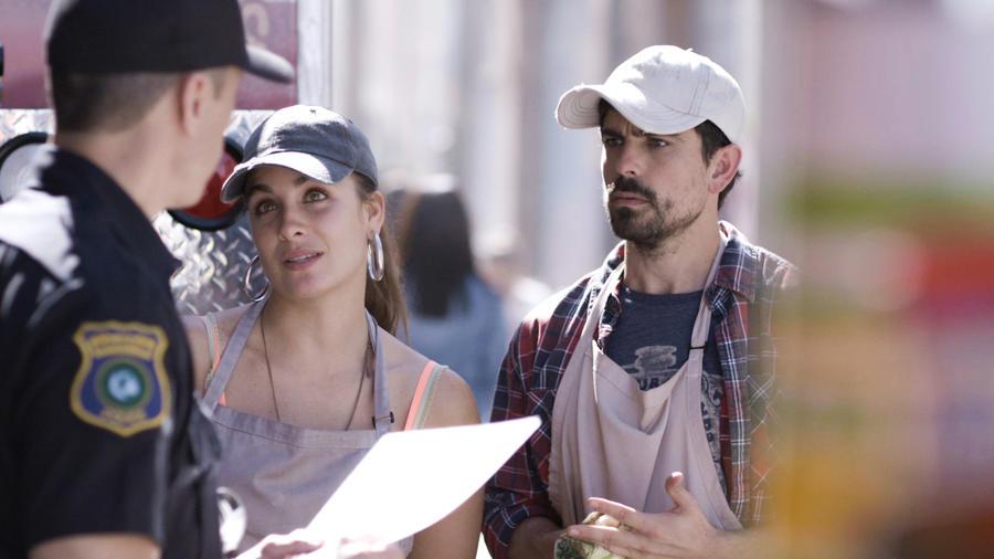 Jorge Luis Moreno y Natasha Domínguez en Mi Familia Perfecta
