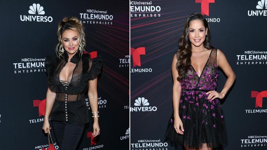 Aracely Arámbula y Carmen Villalobos Upfronts Telemundo 2018