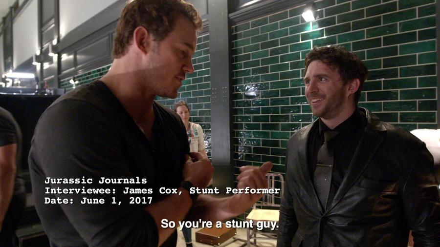 Chris Pratt Interviews  Stunt Performer, James Cox