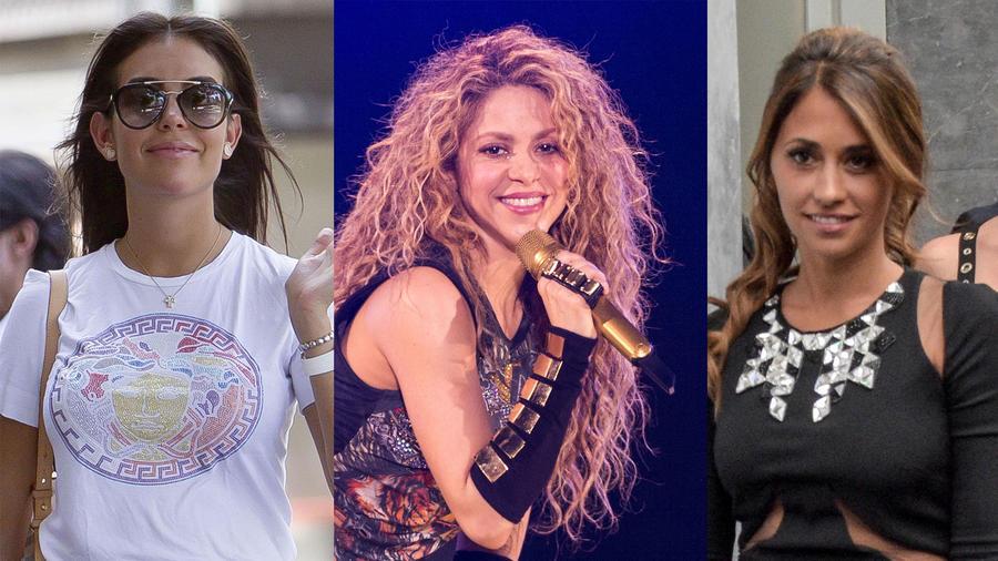 Georgina Rodríguez, Shakira, Antonella Roccuzzo
