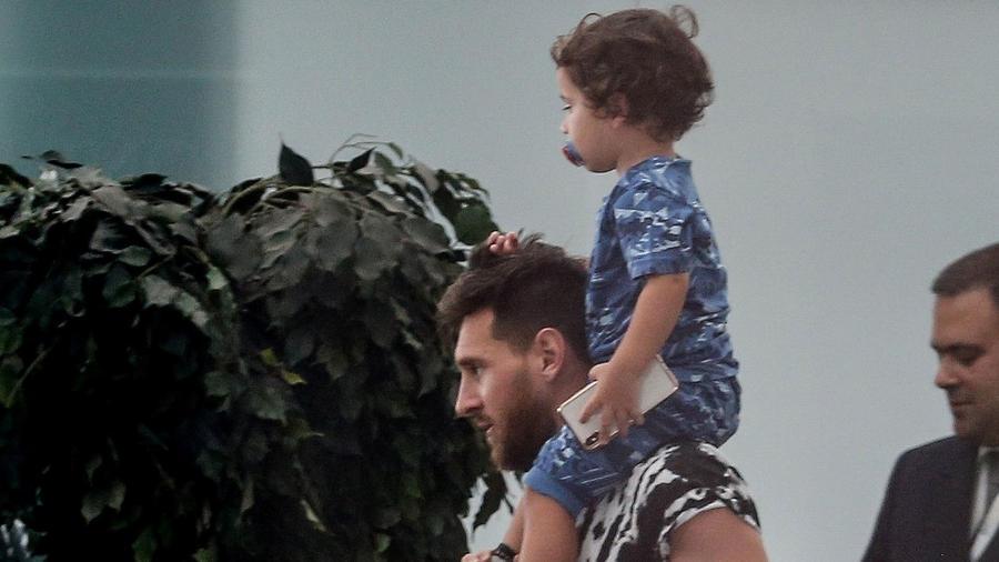 Lionel Messi con Mateo