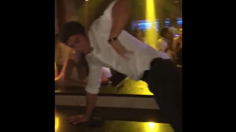 Lorenzo Figueroa bailando