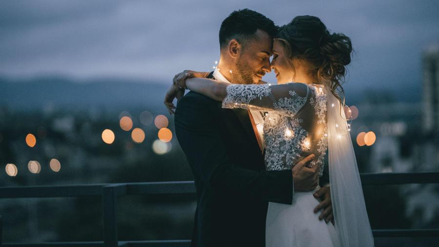 Pareja el día de su boda