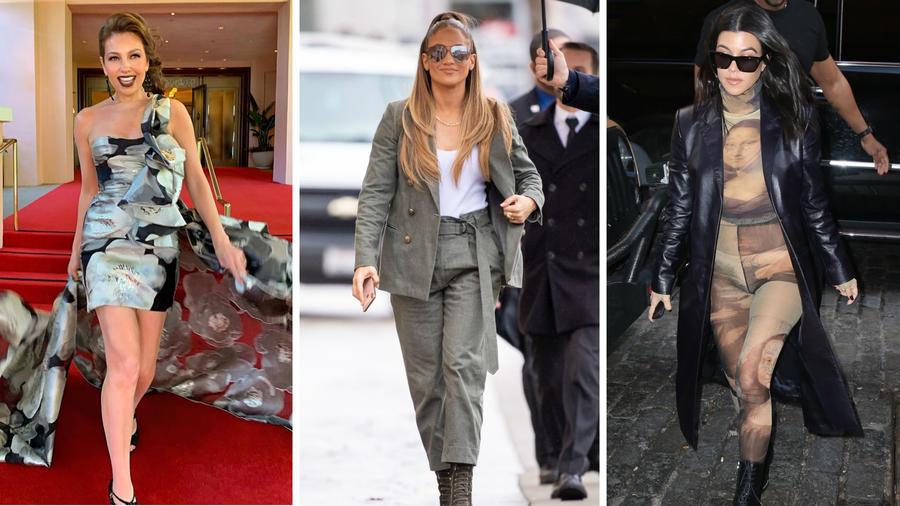 Thalía, Jennifer Lopez y Kourtney Kardashian
