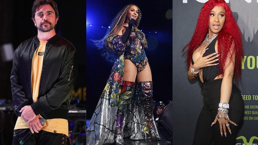 Juanes, Beyoncé, Cardi B