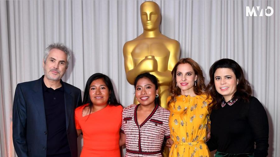 Alfonso Cuarón, Yalitza Aparicio, Marina de tavera, roma