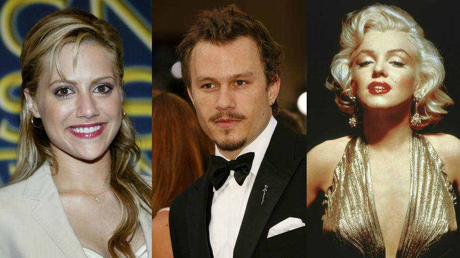 Brittany Murphy, Heath Ledger, Marilyn Monroe