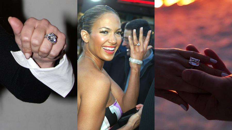 Jennifer lopez y anillos de compromiso