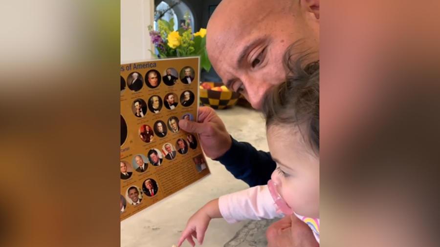 Dwayne Johnson y su hija Tiana