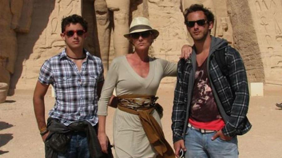 Christian Bach con sus hijos Emiliano y Sebastián Zurita