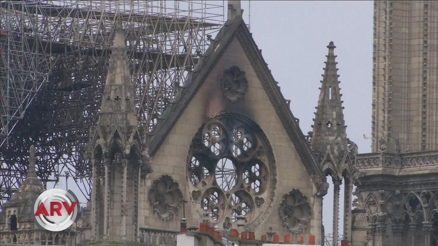 Catedral de Notre Dame quemada en incendio