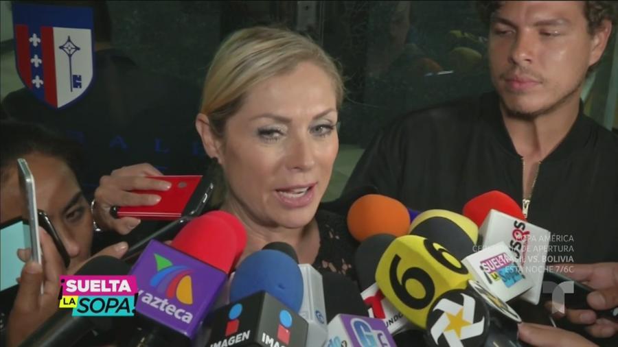 Los famosos le dan el último adiós a Edith González (VIDEO)