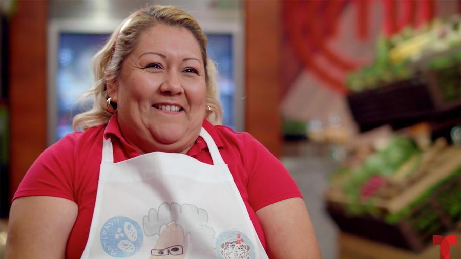 María Luisa de MasterChef Latino 2 charla con el Chef James