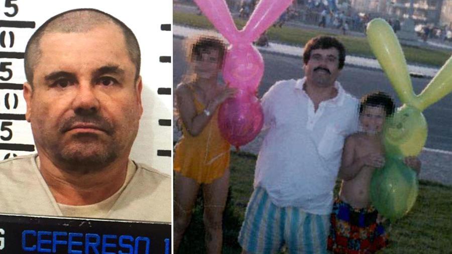 Chapo Guzmán con sus hijos