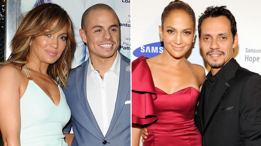 Collage Jennifer Lopez exparejas