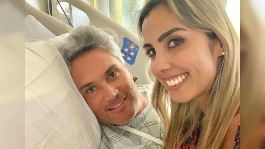 Edgardo del Villar en el hospital por tumor cerebral