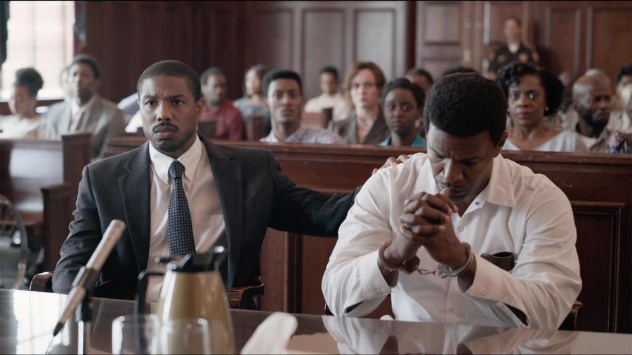 "Michael B.Jordan and Jamie Foxx in ""Just Mercy"""