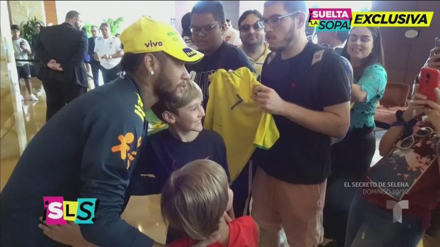 Neymar y fans