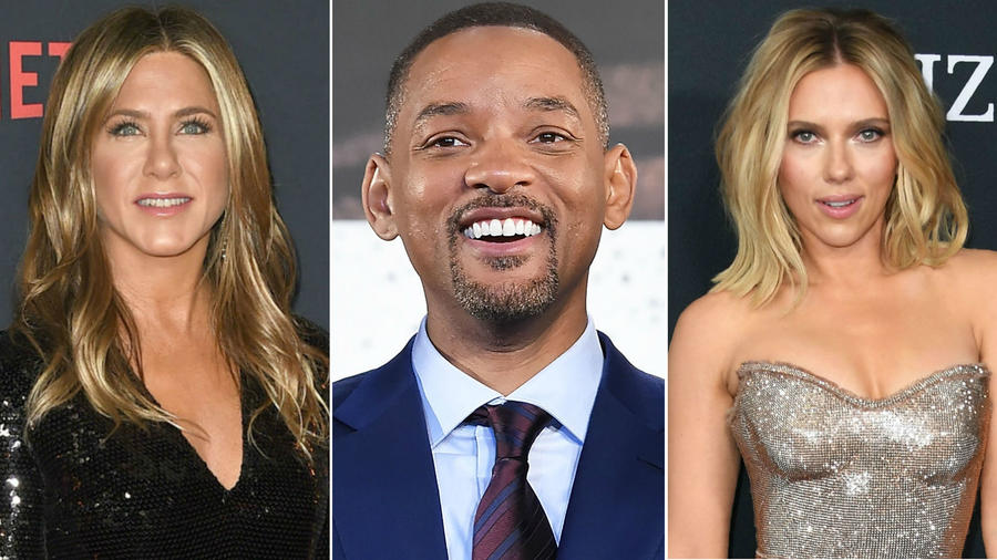 Jennifer Aniston, Will Smith y Scarlett Johansson