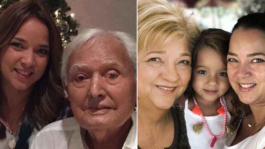 Collage Adamari López padres