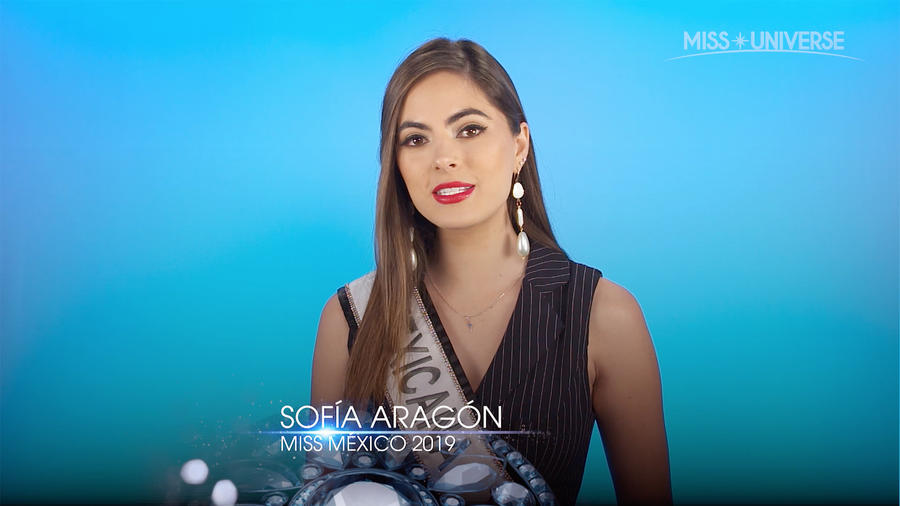 Miss México 2019, Sofía Aragón, Miss Universo