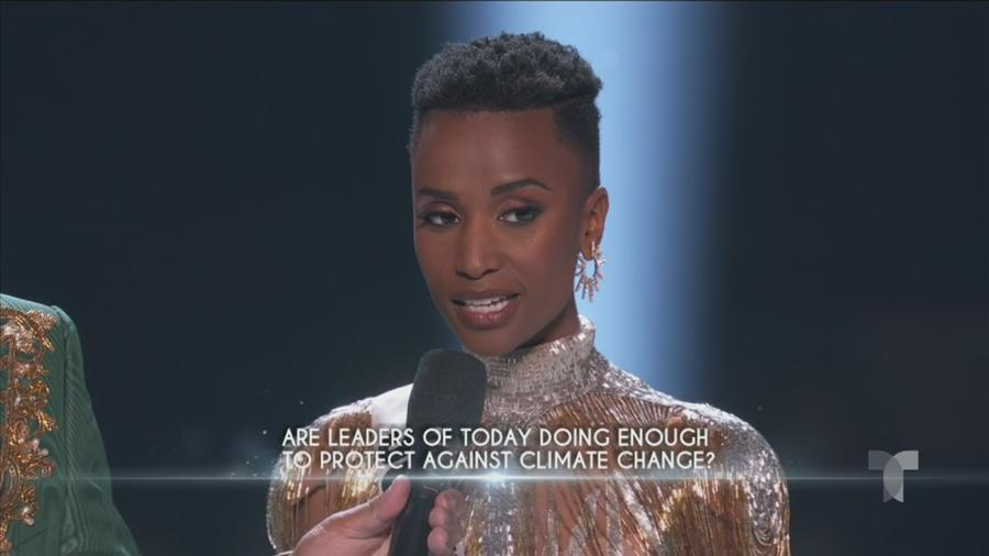 Miss Sudafrica, respuesta de cierre, Miss Universo 2019