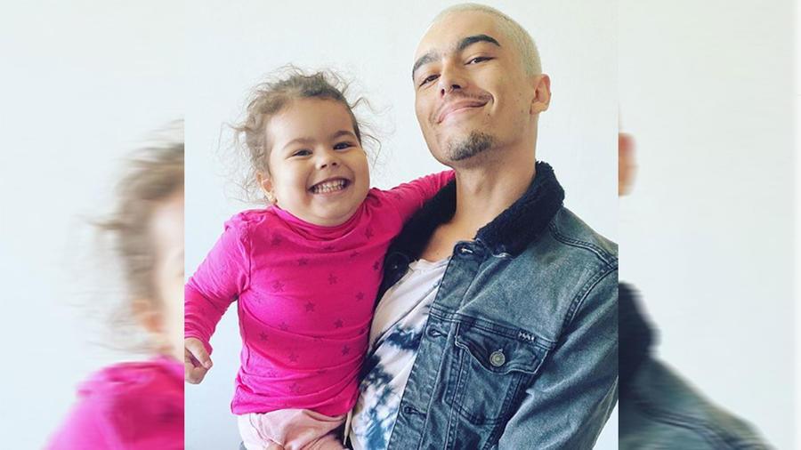 Sergio Mayer Mori con su hija