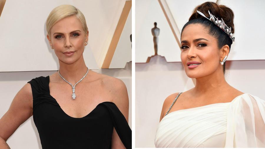 Charlize Theron y Salma Hayek en los Oscar 2020