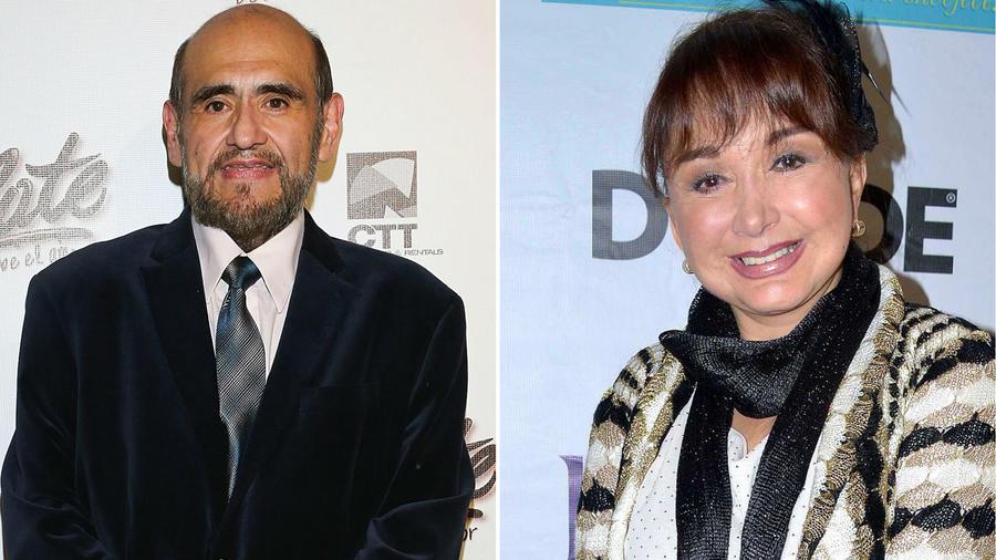 Edgar Vivar y María Antonieta de las Nieves