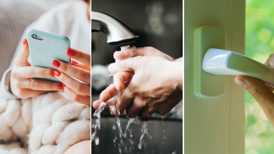 Mujer lavándose las manos