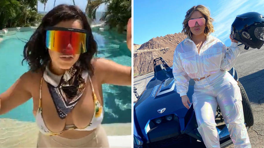 Carolina Sandoval y Chiquis Rivera con gafas