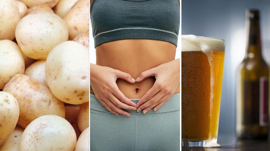 Papa, abdomen y cerveza